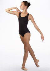 Bloch Teen Gladi Bow Back Leotard Black front. [Black]