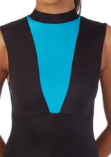 Alegra Fuse Girls Sleeveless Catsuit Blue front #2. [Blue]
