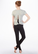 Bloch Open Back Swing T-Shirt Grey front #2. [Grey]