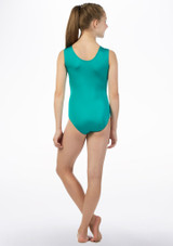 Alegra Rave Sleeveless  Gymnastics Leotard Green back. [Green]
