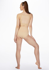 Bloch High Waist Dance Brief* Tan back. [Tan]