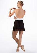 Mirella Juliet Lace Wrap Skirt* Black back. [Black]