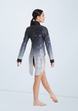 Weissman Ombre Sequin Tailcoat Set Black-White back. [Black-White]