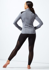 Capezio Zip Front Jacket Grey back. [Grey]