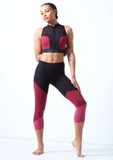 Bloch Panelled Crop Top Pink front. [Pink]