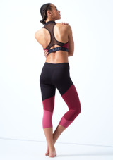 Bloch Panelled Crop Top Pink back. [Pink]