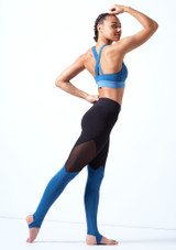 Bloch Cross Back Crop Top Blue back. [Blue]