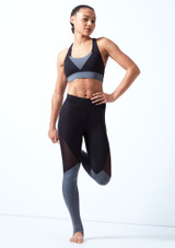 Bloch Cross Back Crop Top Black front. [Black]