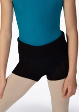 Bloch Nadine Knitted Short Black* front. [Black]