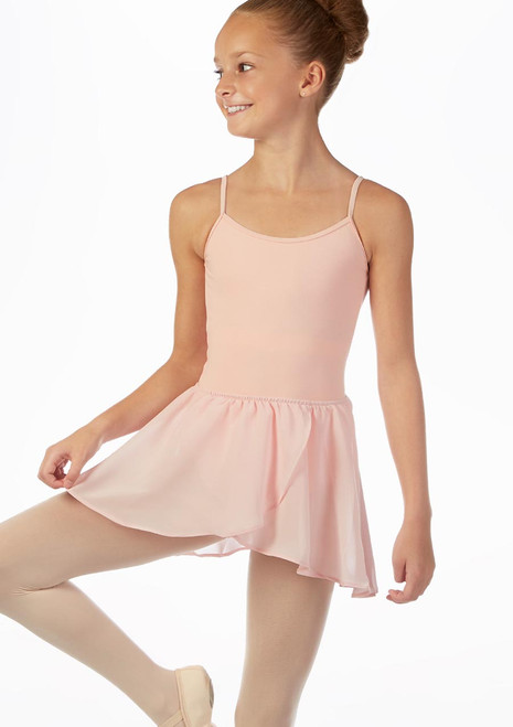 Bloch Pull-On Barre Ballet Dance Skirt Black front. [Pink]