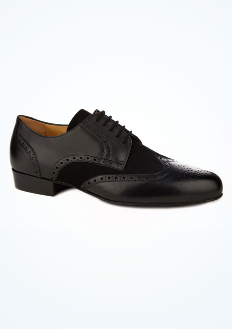 Werner Kern Mens Wingtip Brogue Ballroom Shoes Black main image. [Black]