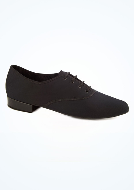 Freed Mens Canvas Lace Up Ballroom Shoe Black main image. [Black]