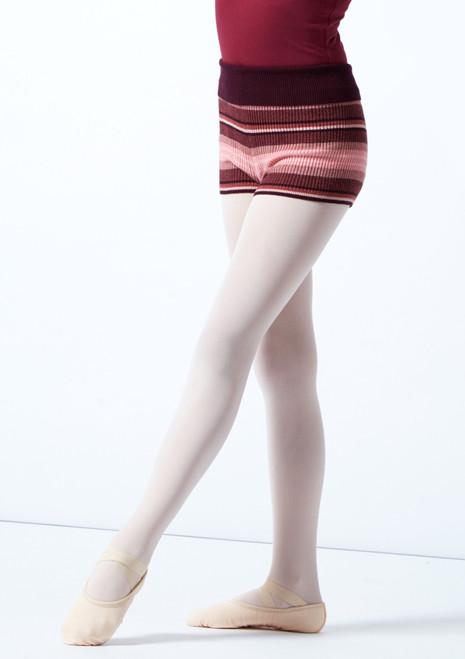 Move Dance Teen Bloom Roll Top Knit Dance Shorts Fig Front-1T [Fig]