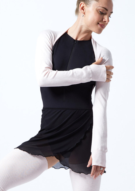 Move Dance Juliet Fine Knit Shrug Pink Front-1T [Pink]