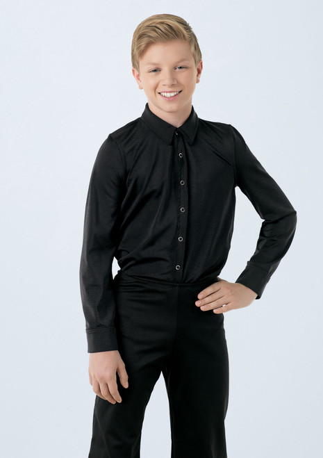 Collar Button Down Shirt 1 [Black]T