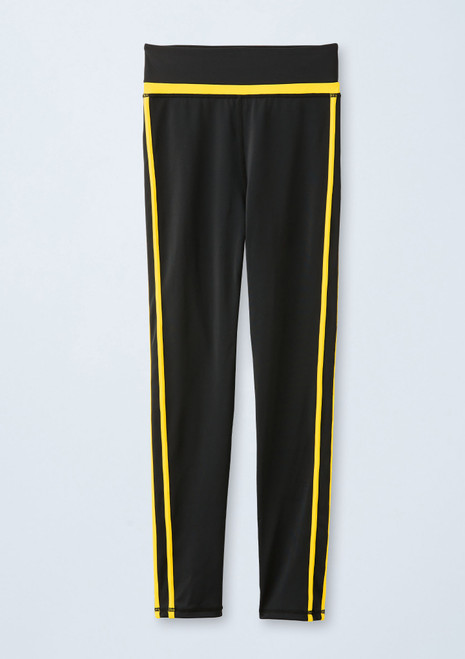 Double Stripe Leggings [Black-Yellow]T