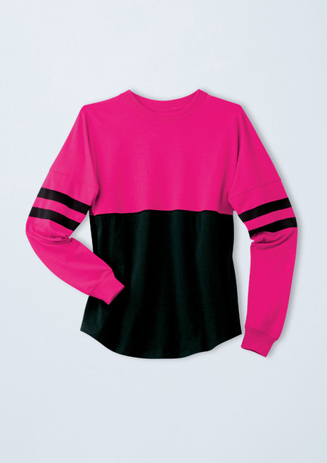 Oversized Color Block Top [Lipstick]T