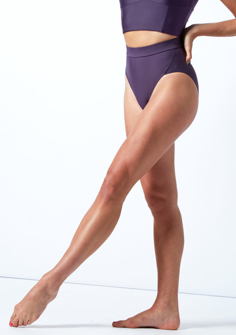 Move Dance Elouise High Waisted Dance Brief Grape Front-1T [Grape]