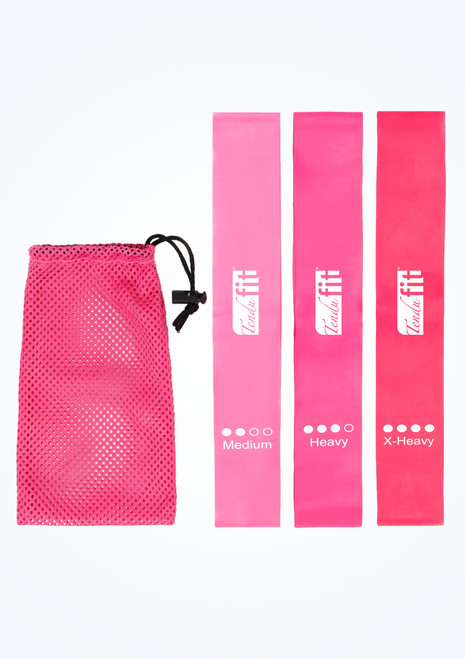 Tendu Small Resistance Bands Set Pink Front-1T [Pink]
