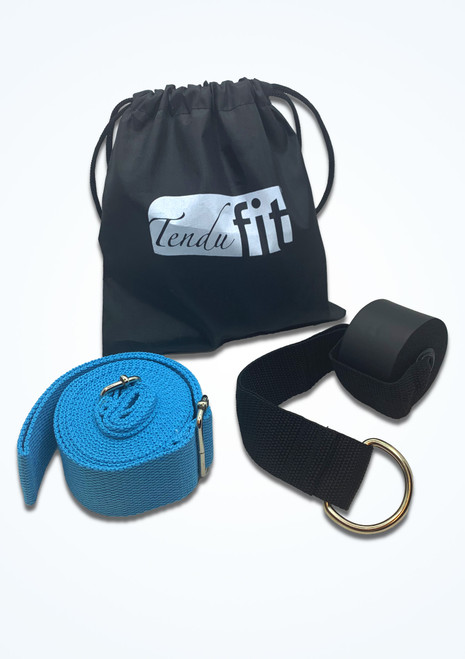 Tendu Over Door Flexibility Strap Black and Blue Front-1T [Black and Blue]