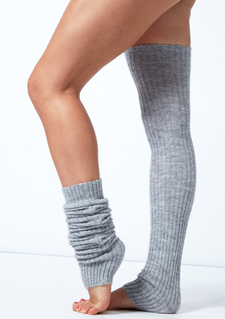 Move Dance Ivy Knit Leg Warmers Grey -1T [Grey]