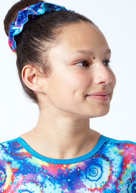 Tappers & Pointers Meteor Gymnastics Scrunchie Turquoise Front-1T [Turquoise]