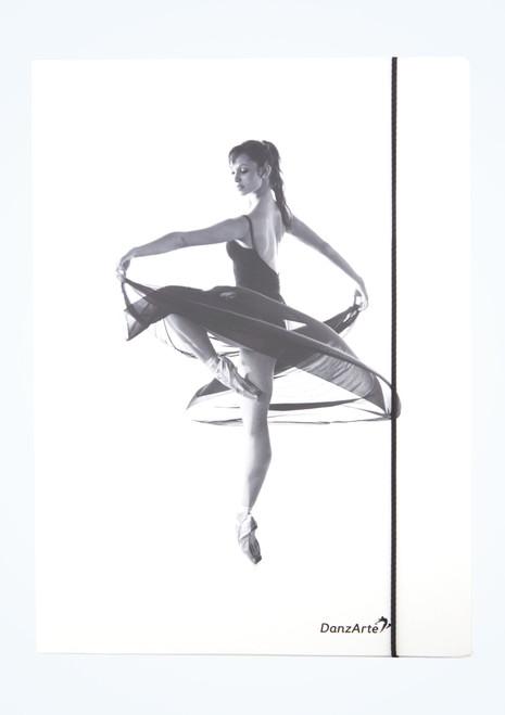 Intermezzo A4 Ballerina Folder White Front-1T [White]
