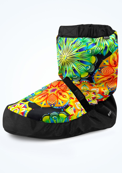 Bloch Floral Print Warm Up Bootie - Green Green Front-1T [Green]