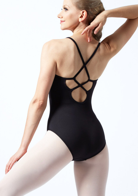 Bloch Embroidered Cross Back Camisole Leotard