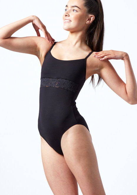 Bloch Teen Embroidered Cross Back Camisole Leotard