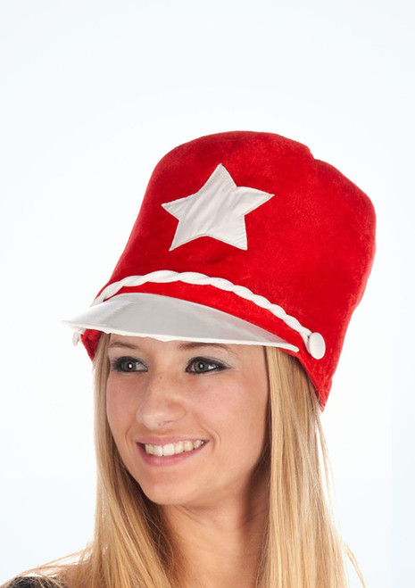 Majorette Hat Red. [Red]