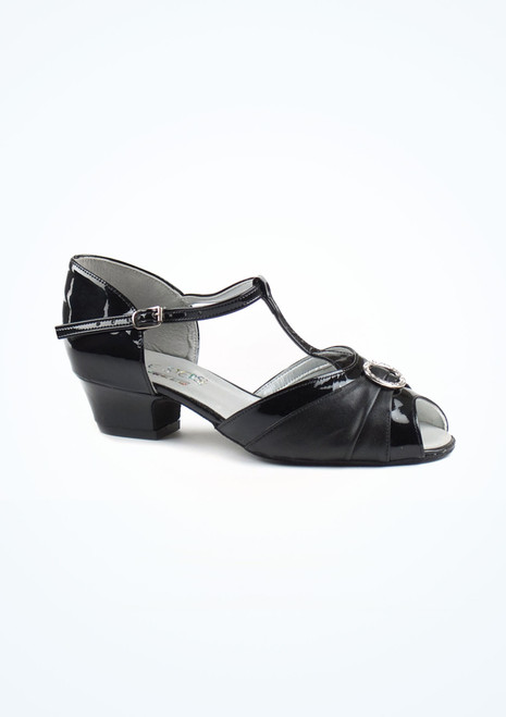 Dancesteps Garnet Ballroom & Latin Shoe 1.5 Black. [Black]""