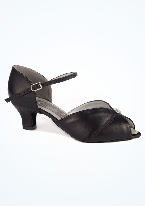 Dancesteps Sunstone Ballroom & Latin Shoe 1.65 Black. [Black]""