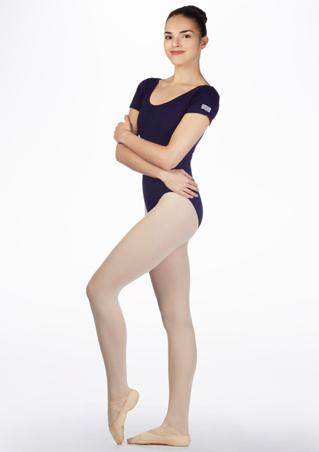 Freed Short Sleeved RAD Leotard Blue front. [Blue]