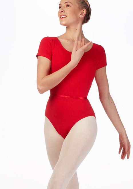 Move Dance Penny Leotard Red front. [Red]