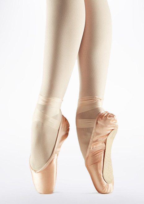 Capezio Contempora Pointe Shoe Pink front. [Pink]