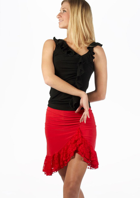 Move Lilia Latin Skirt Red. [Red]