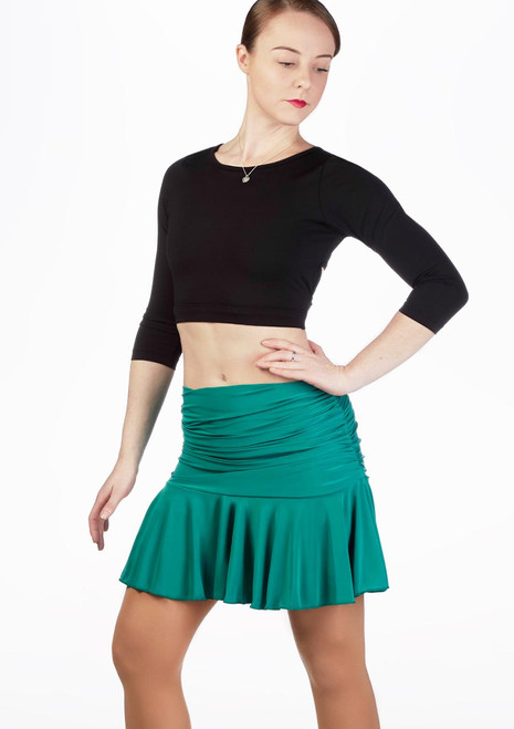 Move Estrella Latin Skirt Green front. [Green]