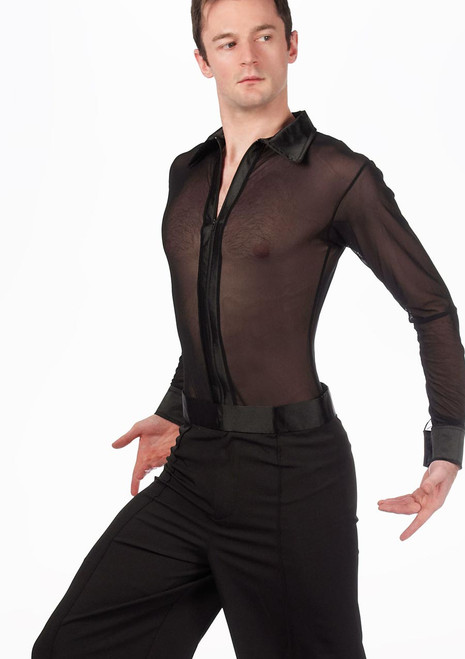 Move Men's Latin Mesh Shirt Black [Black]