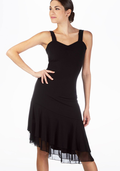 So Danca Strappy Partner Dress Black. [Black]