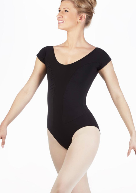 Move Lana Leotard Black front. [Black]