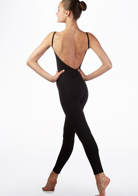 Alegra Teen Camisole Catsuit Black back. [Black]