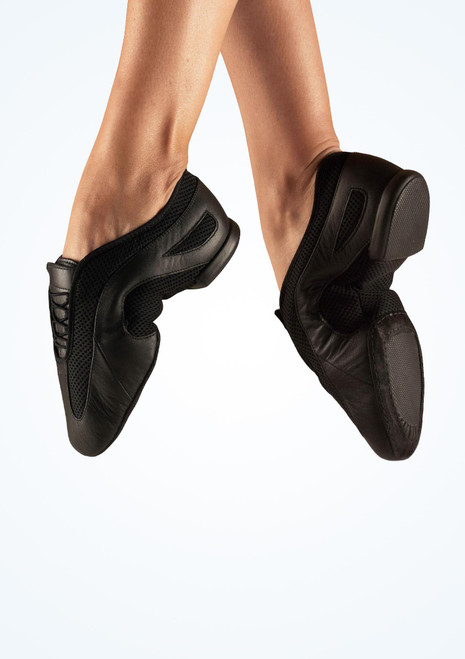 Bloch Slipstream Split Sole Jazz Shoe Black. [Black]