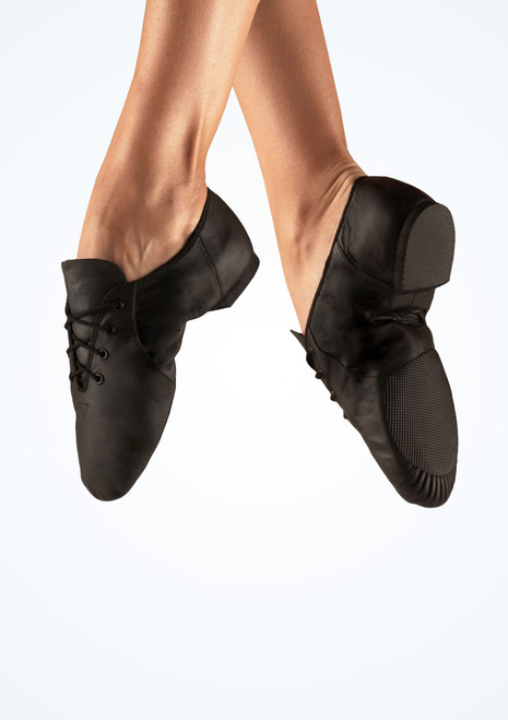 Bloch Split Sole Jazz Shoe Black. [Black]