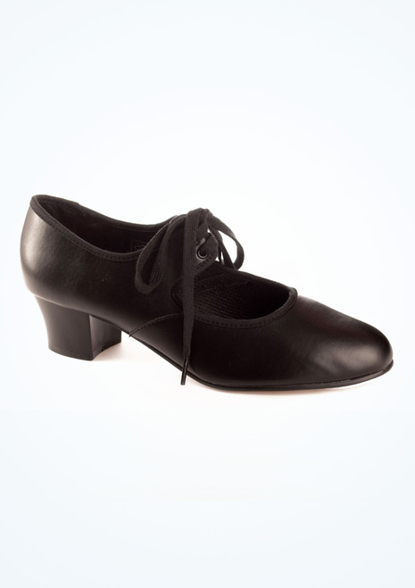 Tappers & Pointers Cuban Heel Tap Shoe Black. [Black]