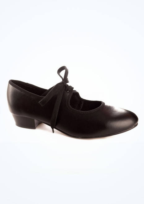 Tappers & Pointers Low Heel Tap Shoe Black. [Black]