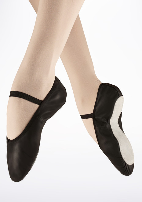 So Danca Full Sole Leather Ballet Shoe Black. [Black]