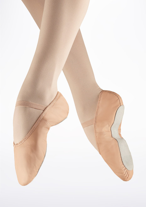 So Danca Full Sole Leather Ballet Shoe Pink. [Pink]
