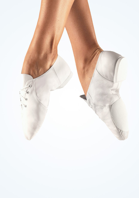 Bloch Split Sole Jazz Shoe White. [White]