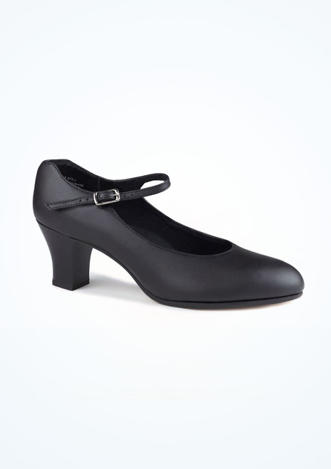 Capezio Leather Character Shoe 2 Black. [Black]""